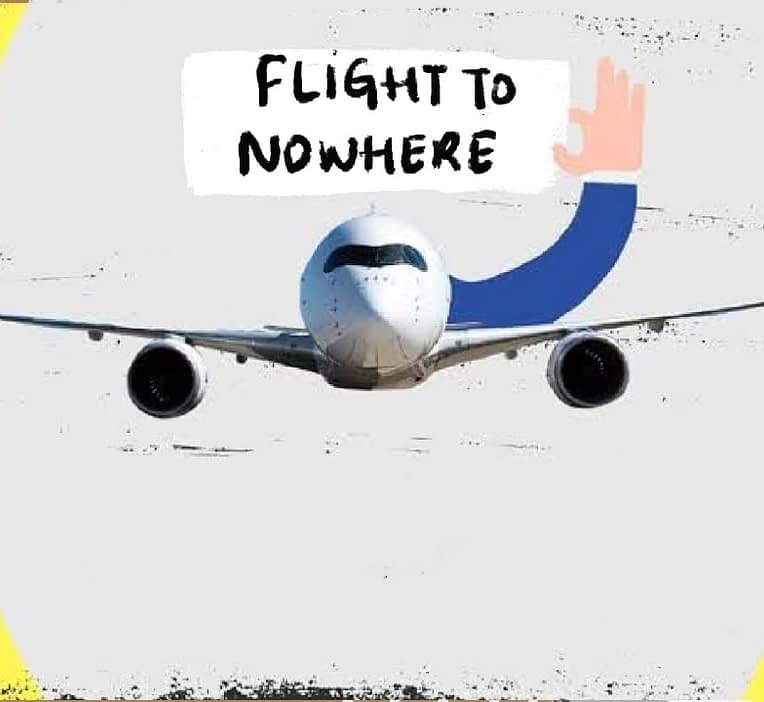 Flights to nowhere, a concept that helps airline industry to take off