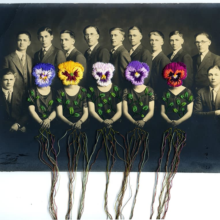 Embroidered photos