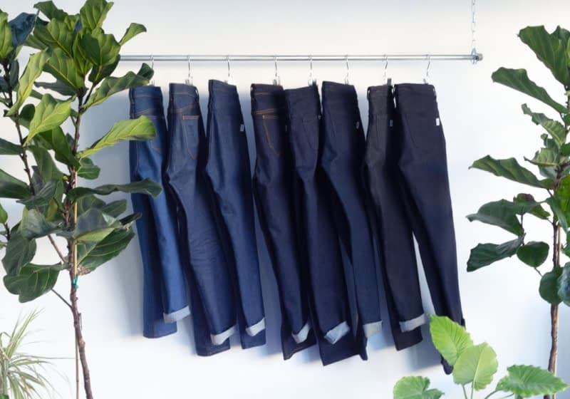 Jeans made using 3D weaving